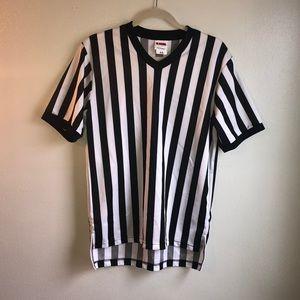 Shirts - Pin Stripped Adult Small Reffing Shirt